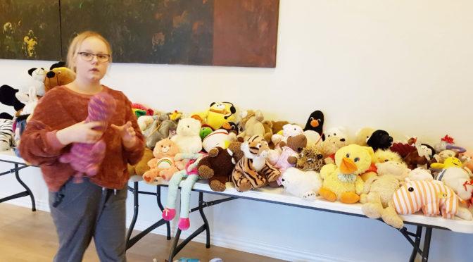Kulturhuset i Engesvang fyldt med bamser og drabelige historier